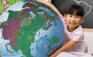 Preschool 028 Inflatable Earth Girl Asian B
