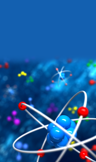 Blue and red Atom